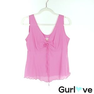 Jams World Voile Pink Cotton Tank Top Size M